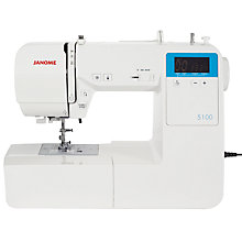 Buy Janome 5100 Sewing Machine, White Online at johnlewis.com