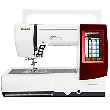 Buy Janome Memory Craft 9900 Sewing Machine, White Online at johnlewis.com