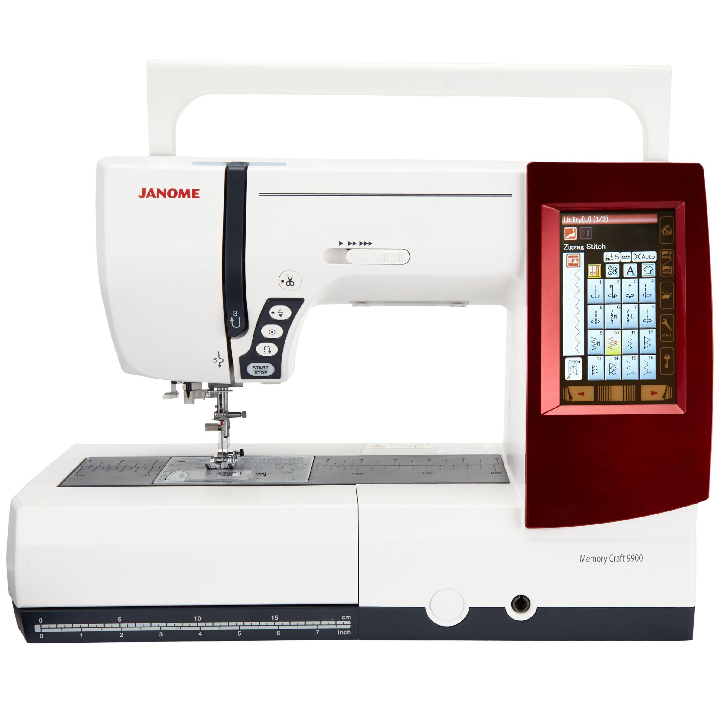 Janome Janome Memory Craft 9900 Sewing Machine, White