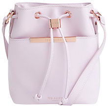 Buy Ted Baker Metal Bar Mini Bucket Leather Across Body Bag Online at johnlewis.com