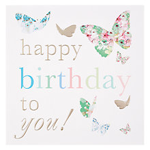 Buy Card Mix Butterflies Happy Birthday Card Online at johnlewis.com