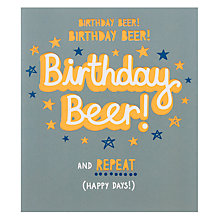Buy Paperlink Birthday Beer Birthday Card Online at johnlewis.com