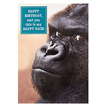 Buy Pigment Happy Face Birthday Card Online at johnlewis.com