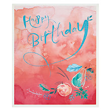 Buy John Lewis Peach Birthday Card Online at johnlewis.com