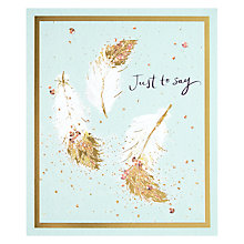 Buy John Lewis Golden Feather Greetings Card Online at johnlewis.com