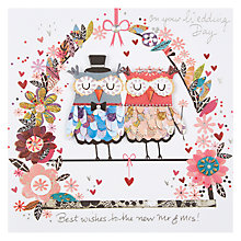 Buy Paper Rose Mr and Mrs Owl Handmade Wedding Card Online at johnlewis.com