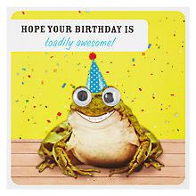 Buy Paperlink Toadily Awesome Birthday Card Online at johnlewis.com