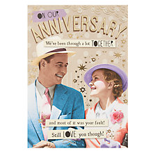 Buy Pigment Your Fault Anniversary Card Online at johnlewis.com