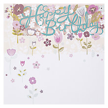 Buy Paperlink Happy Birthday Flowers FSC-Certified Card Online at johnlewis.com