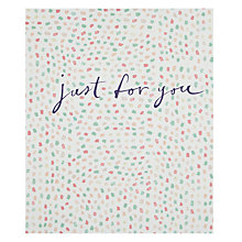 Buy John Lewis Just For You Confetti Card Online at johnlewis.com