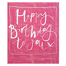 Buy John Lewis Happy Birthday To You Card Online at johnlewis.com
