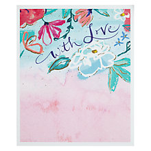 Buy John Lewis With Love Pink Greetings Card Online at johnlewis.com