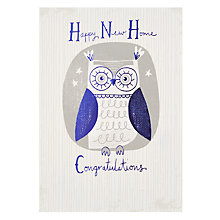 Buy Hotchpotch Owl New Home Card Online at johnlewis.com