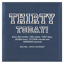Buy Five Dollar Shake Thirty Today Birthday Card Online at johnlewis.com