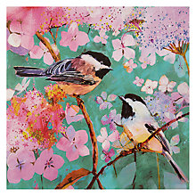 Buy Woodmansterne Two Birds On A Hydrangea Branch Card Online at johnlewis.com