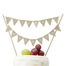 Buy Ginger Ray Vintage Just Married Cake Bunting Online at johnlewis.com