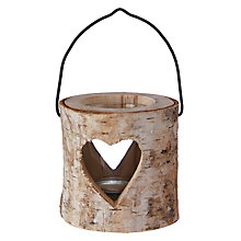 Buy John Lewis Wooden Heart Tea Light Holder Online at johnlewis.com
