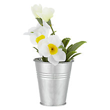 Buy John Lewis Artificial Daffodils in Tin, White Online at johnlewis.com