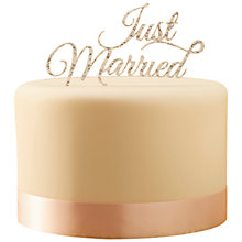 Buy Ginger Ray Silver Just Married Cake Topper Online at johnlewis.com