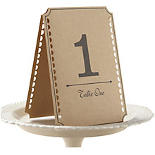 Buy Ginger Ray Kraft Wedding Table Numbers, Pack of 12 Online at johnlewis.com