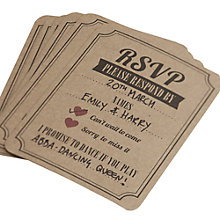 Buy Ginger Ray Brown Kraft Vintage Affair Wedding RSVP Cards, Pack Of 10 Online at johnlewis.com