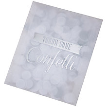 Buy Ginger Ray Silver Confetti Single Pack Online at johnlewis.com