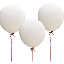 Buy Ginger Ray Vintage Affair Huge White Balloons, Pack Of 3 Online at johnlewis.com