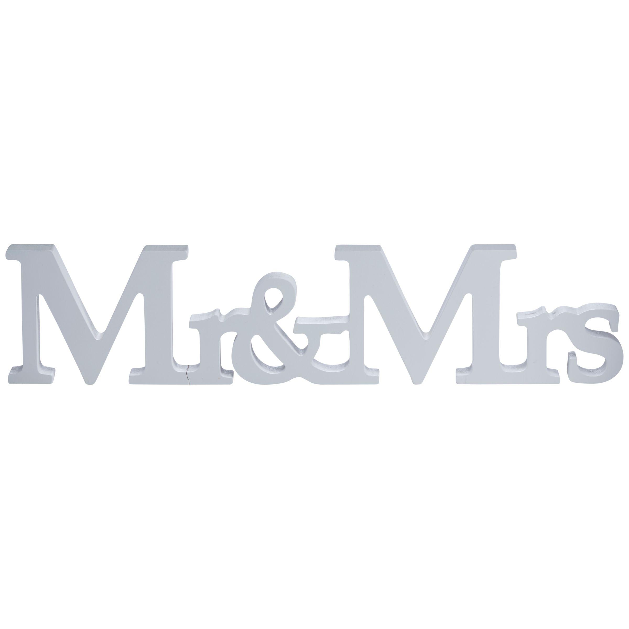 Ginger Ray Ginger Ray White Mr & Mrs Wood Sign