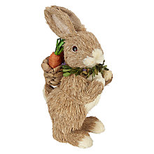 Buy John Lewis Straw Rabbit with Backpack Online at johnlewis.com