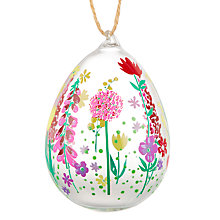 Buy John Lewis Glass Decorative Egg, Large, Assorted Online at johnlewis.com