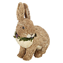 Buy John Lewis Crouching Straw Rabbit Online at johnlewis.com