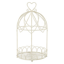 Buy John Lewis Large Round Bird Cage with Heart Online at johnlewis.com