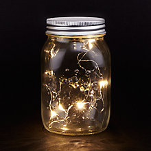 Buy Mason Jar Led Lights, Small Online at johnlewis.com