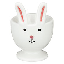 Buy John Lewis Bunny Egg Cup, White Online at johnlewis.com