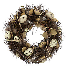 Buy John Lewis Egg and Feather Wreath Online at johnlewis.com