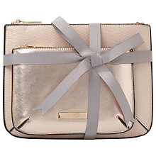 Buy Dune Sadie Double Pouch Makeup Bag, Nude Online at johnlewis.com