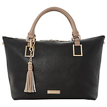 Buy Dune Deloris Black Zip Detail Tote, Black Online at johnlewis.com