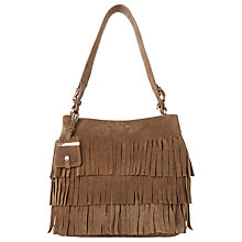 Buy Dune Suede Fringed Suede Shoulder Bag Online at johnlewis.com