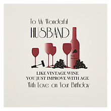 Buy Five Dollar Shake Wonderful Husband Card Online at johnlewis.com