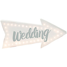Buy Talking Tables Wedding Illuminated Sign Online at johnlewis.com