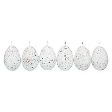 Buy John Lewis Speckled Egg Candles, Set of 6 Online at johnlewis.com