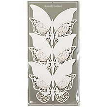 Buy Talking Tables White Butterfly Garland, 2m Online at johnlewis.com