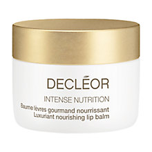Buy Decléor Intense Nutrition Luxuriant Nourishing Lip Balm Online at johnlewis.com