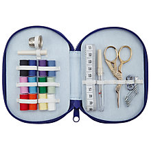 Buy John Lewis Classic Floral Print Sewing Kit, Blue Online at johnlewis.com