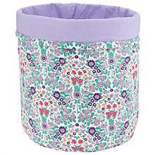 Buy John Lewis Daisy Chain Storage Bucket, Purple Online at johnlewis.com