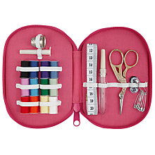 Buy John Lewis Robin Print Sewing Kit, Pink Online at johnlewis.com