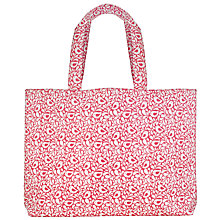 Buy John Lewis Large Robin Print Craft Shopper Bag, Pink Online at johnlewis.com