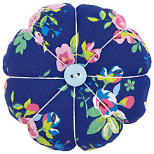 Buy John Lewis Classic Floral Print Pin Cushion, Blue Online at johnlewis.com
