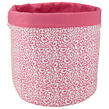 Buy John Lewis Robin Storage Bucket, Pink Online at johnlewis.com