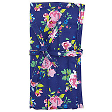 Buy John Lewis Classic Floral Crochet Roll and Hooks, Blue Online at johnlewis.com